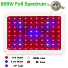 1pcs 800W Double Chips LED Grow Light Full Spectrum for Veg/Bloom Hydroponic Planting with EU AU US JP plug(China (Mainland))