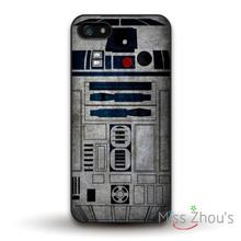 Star Wars R2D2 Robot Protector back skins mobile cellphone cases for iphone 4/4s 5/5s 5c SE 6/6s plus ipod touch 4/5/6