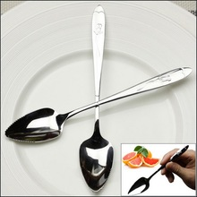 by DHL or EMS 1000 pcs Grapefruit Spoon Stainless Steel Fruit Tools Sawtooth Spoons Good Kitchen Gadgets Tableware Accessories