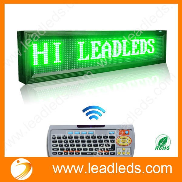 """P10 Outdoor GREEN LED DISPLAY 40"""" X 9.5"""" Multi-line led display Super Bright LED Scrolling Message Sign Board(China (Mainland))"""