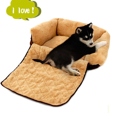 Dog Sofa Pet/Cat Soft Warm Pet Funny Bed Dog Cushion Puppy Sofa 4 Ways Use High Quality Dog House Kennel China Pet Supplies #K(China (Mainland))