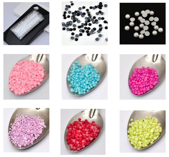 10000PCS  Mixed colors  wholesale 3MM imitation flatback round pearls accessory Jewelry Findings DIY fitting [JCZL DIY Shop]