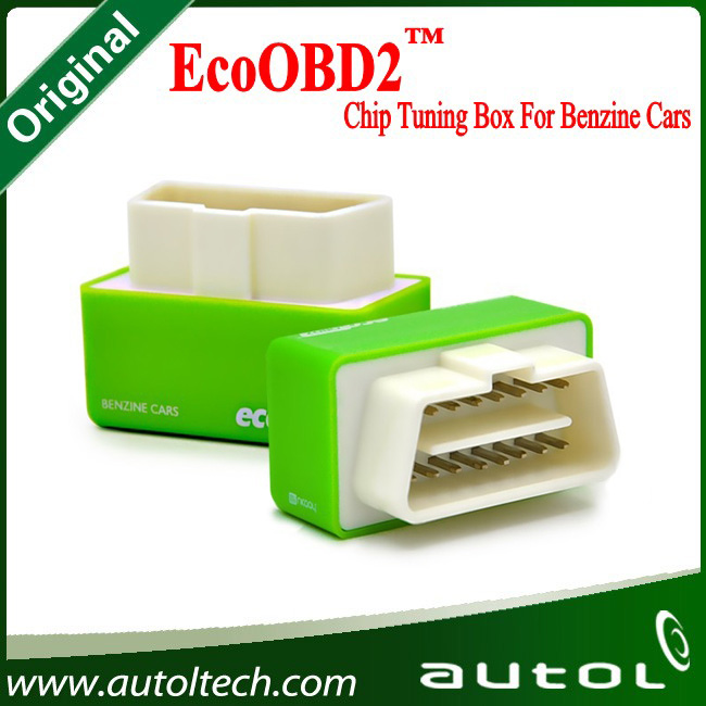 EcoOBD2 Plug&Driver OBD2 Green Scanner For Benzine Cars Professional Auto Chip Tuning Box Economy Device(China (Mainland))