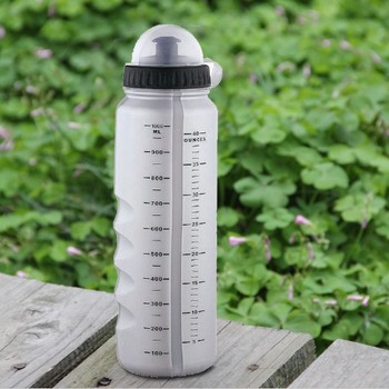 New Gray Cycling ciclismo Bike Bicycle Sports 1000ml Plastic Water Bottle With Dust Cover Free shipping