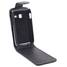 Black Vertical Flip Leather Case for Samsung Galaxy Y Duos S6102 Simple Up and Down Magnetic Clasp Case Cover(China (Mainland))
