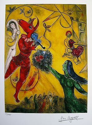 Marc Chagall Facsimile Art Dance The Circus Oil Paintings Windows Western Paintings Free Shipping Pop Art Buyers High Qua(China (Mainland))