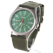 Fashion Type Outdoor Army Compass Watches Lovers Men Leather Band Compass Band New