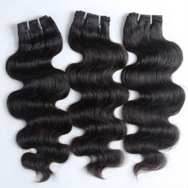 Indian Deep Wave Natural Hair Weft 100g Natural Color 18-30inch High Quality Hair Extension(China (Mainland))