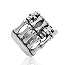 316L Titanium Steel Skeleton shape Ring, Cool Punk style Skull Ring, Ring of Terminator(China (Mainland))