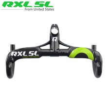 Buy RXL SL Carbon Handlebar Road Bicycle Integrated Handlebar Stem Road Bike Breaking wind Bent Bar Bicycle Parts UD Gloss for $66.08 in AliExpress store
