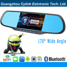 """Cylink- 5"""" Android full hd 1080p Car Bluetooth rearview mirror dvr recorder with GPS,radar detector,Dual Cam,WiFI,FM Transmitter(China (Mainland))"""