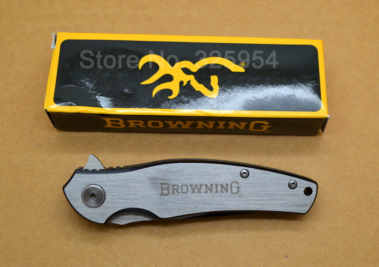 Browning Knife With Full Stainless Steel Handle Assisted Open Camping Hunting Folding Knives