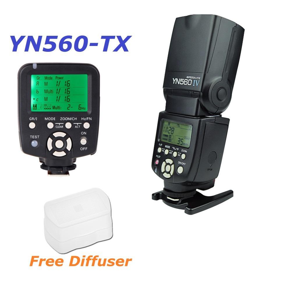 Вспышка yongnuo йн-560IV 560IV свет вспышки Speedlite вспышки + YN560-TX и беспроводной вспышки контроллер для Nikon DSLR-камеры типа D90 D1000 кадрах, снятых D80