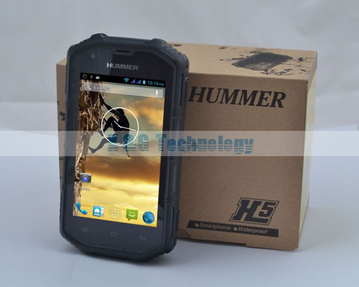 Original Hummer H5 IP68 dustproof waterproof Android 3G Smart Phone Shockproof GPS 4.0inch Capacitive Screen IP68 WCDMA 512/4GB(China (Mainland))