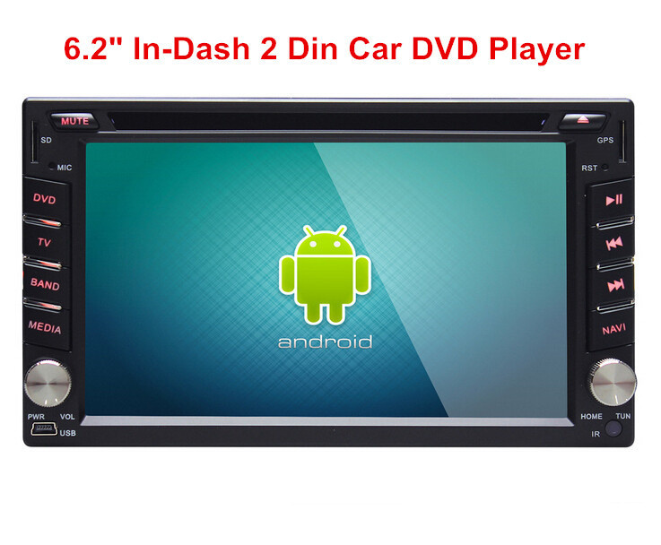 New Universal Double 2 Din Car DVD Player Android GPS Navigation In dash Car PC Stereo Head Unit(China (Mainland))