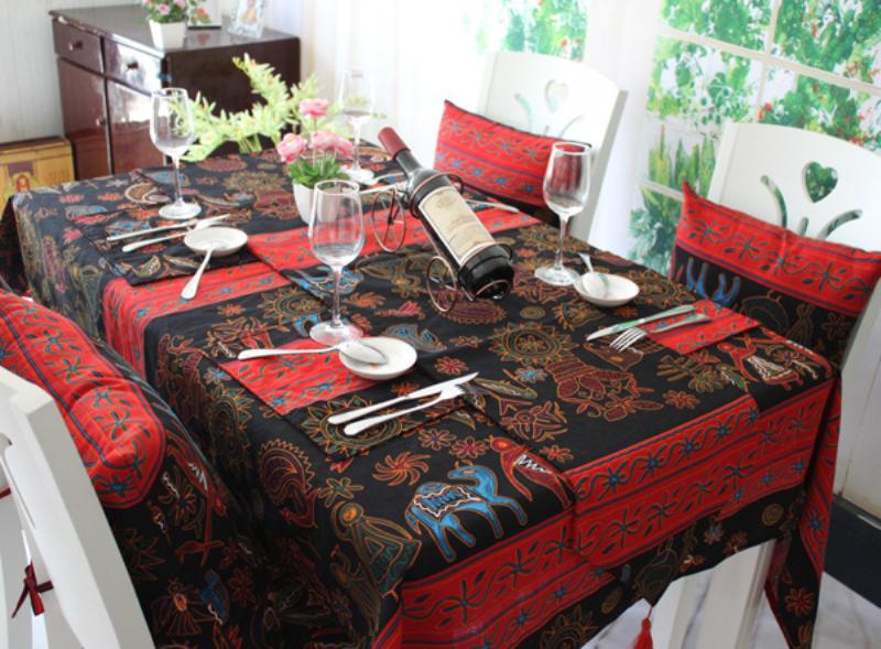 Southeast Asian Ehnic Cotton Linen Tablecloth Cloth Cafe Table Cloth Tablecloth Tea Cloth Eastern Mediterranean(China (Mainland))