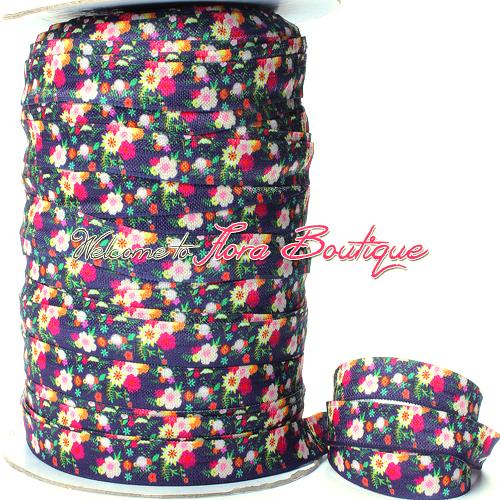 Flower printed elastic headband for women, 2016 summer floral hair ties(China (Mainland))