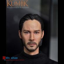 1/6 Head Sculpt Male Figure Head Keanu Reeves John Wick Doll Lifelike Fit 12″ Action Figure Collection Toys Gift KUMIK15-5