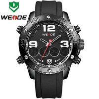 Summer Style Casual WEIDE Brand Mens Analog-Digital Watch 30m Water Resist Dual Time Back Light Logo Sports Watch Clock WH3405