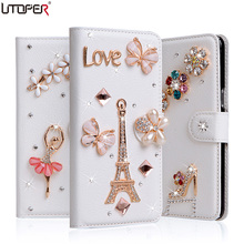 Buy Doogee X9 Mini Luxury Wallet Stand Flip PU Leather Diamond Case Doogee X5 Max X6 X7 X9 Pro Case Rhinestone Bling Cover for $6.99 in AliExpress store