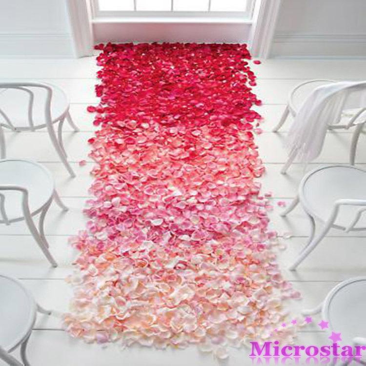 500pcs Table Confetti Decoration Silk Rose Petals Flower Engagement Wedding Celebrations Christmas Party(China (Mainland))