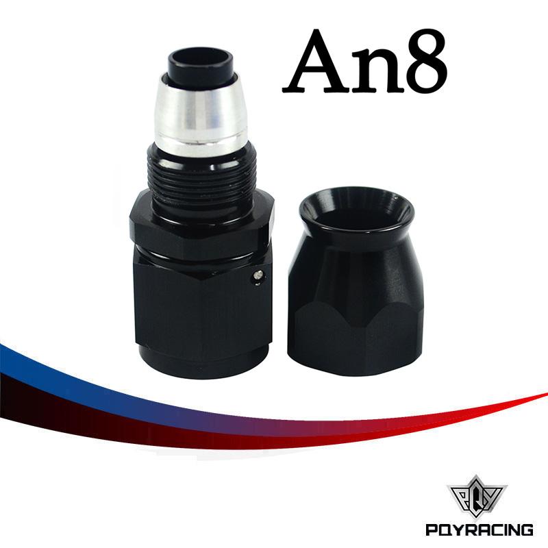 Black High Quality PTEF AN8 AN-8 Straight REUSABLE SWIVEL TEFLON HOSE END FITTING AN8(China (Mainland))