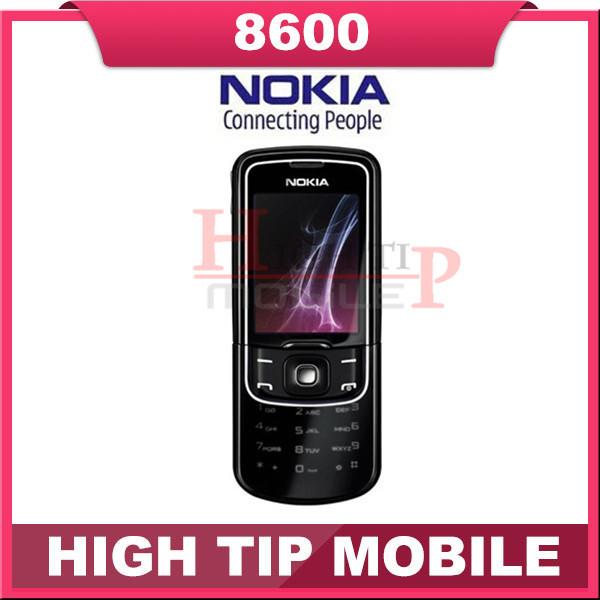 Russian keyboard support Nokia Unlocked Original 8600 Luna Mobile cell phone Free shipping 1 year warranty Refurbished(China (Mainland))