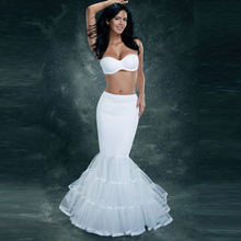 White Mermaid Petticoat Cheap Hot sale 2016 Bridal petticoat Wedding Accessories Tiered Beauty F370(China (Mainland))
