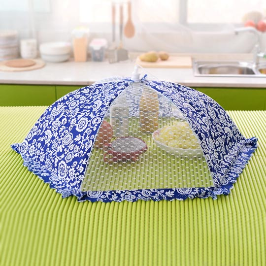 16 inches Large folding food cover dining table leaf mustard food cover bowl cover fly leaf mustard umbrella(China (Mainland))