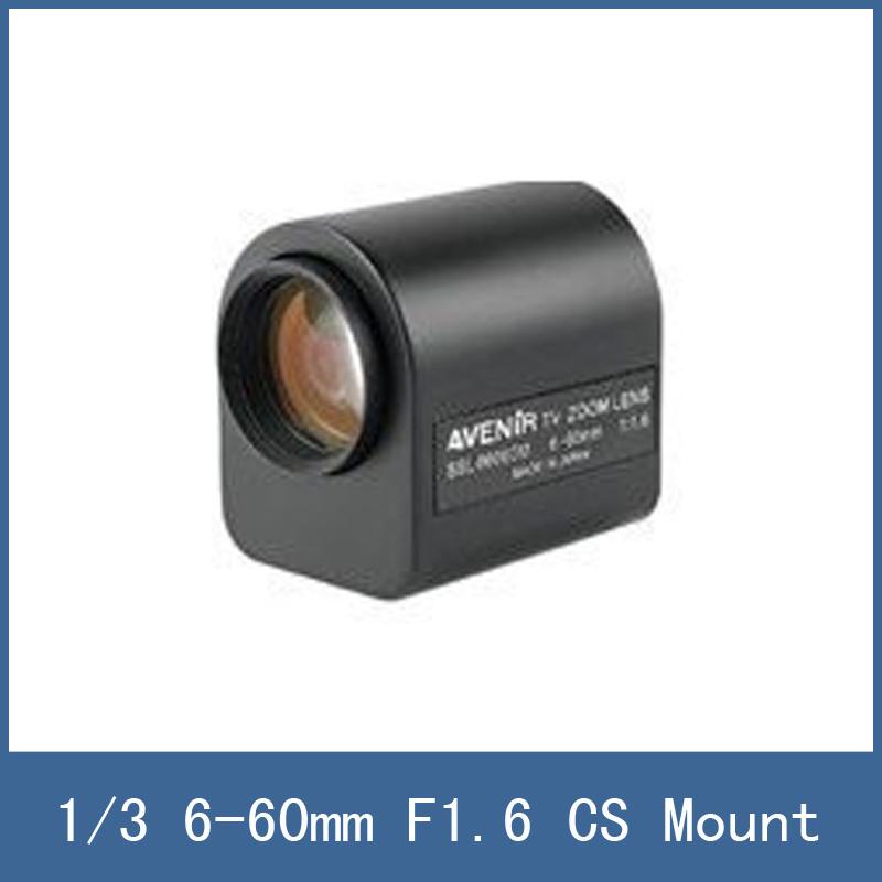 2015 High Quality 6-60mm Varifocal Motorized Zoom Lens , 1/3 Format + F1.6 Aperture + CS Mount , For CCTV Security Camera Module<br><br>Aliexpress