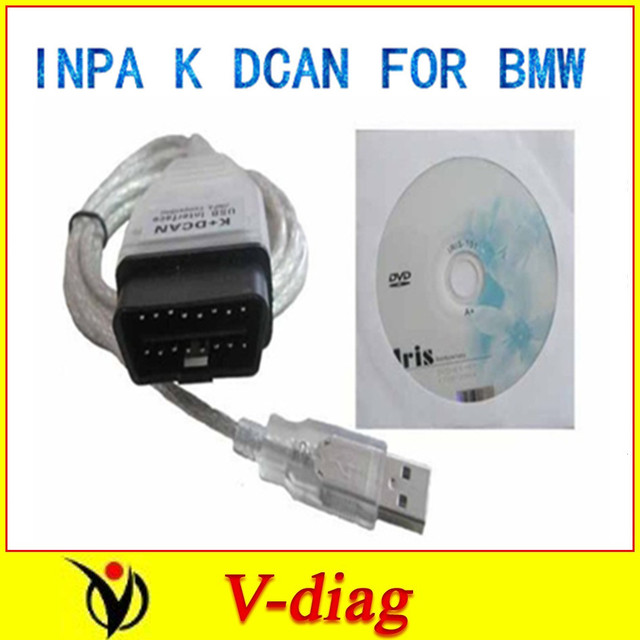 with FT232RL chip cable for BMW INPA K+ D CAN 2016 newest ver SUPER QUALITY  with one year free warranty and free shippment