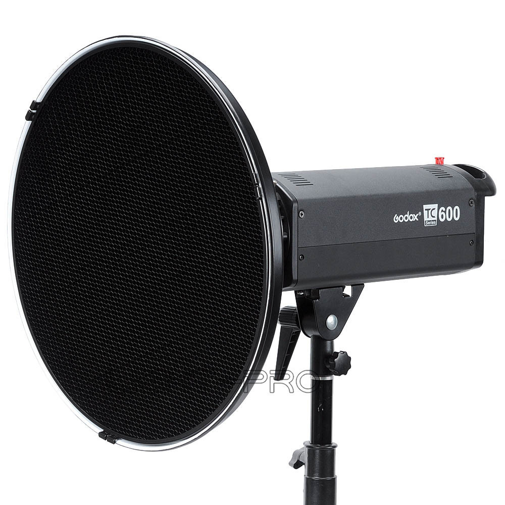 "Фотография Godox Photo Strobe Flash Beauty Dish 42cm / 16"" Honeycomb Grid Bowens Mount inner Silver"