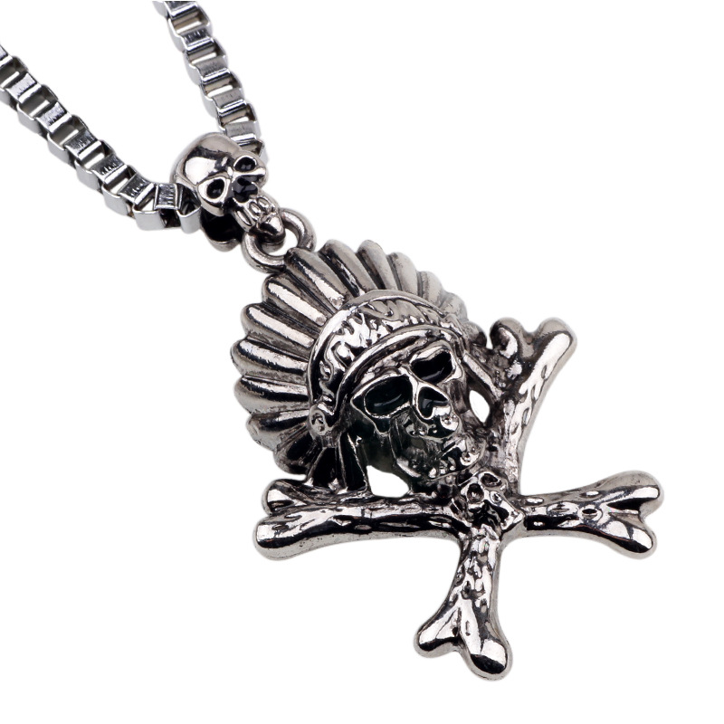 Wholesale 2016 New Hot Sale Fashion Jewelry Cool Skull Chain Men's Stainless Steel Necklaces & Pendants For Men/boys(China (Mainland))