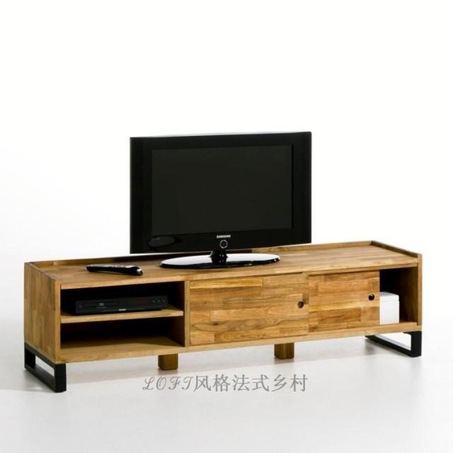 Meuble tv bois fer - Meuble d angle tv moderne ...
