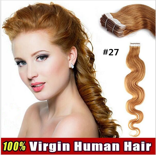 TAPE HAIR WAVY 20inch 20pcs 50gram No trace of the 100 Real Human Hair Extensions Tape
