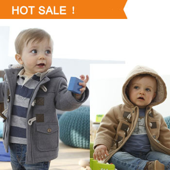 Baby Boys Jacket Winter Clothes 2014 Spring New Kids Outerwear Coat Thick Clothes Children Clothing With Hooded 2 Color Hot Sale(China (Mainland))