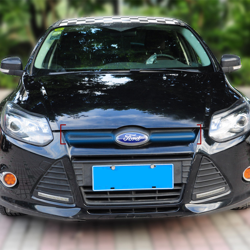 Personalized Front Grill Logo Sides Sticker For Focus 2011 PC Decorative Front Logo side Trim For Focus 3 For Ford(China (Mainland))