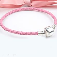 Silver Plated Genuine Leather Women Bracelet Fit Pandora Bracelets & Bangles European Bead Charm Jewelry yw15730(China (Mainland))