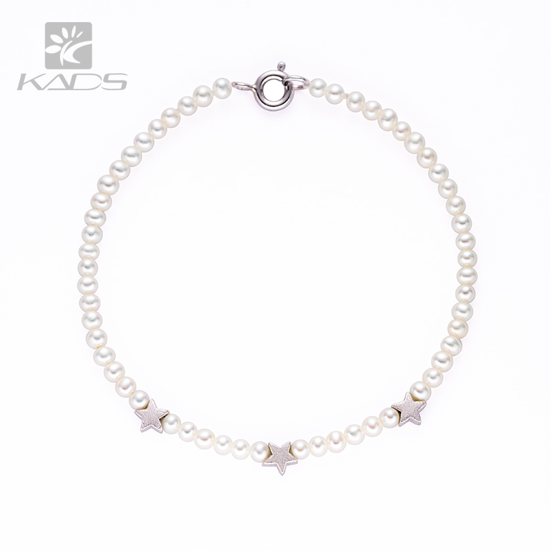 KADS AAA 100% Natural Freshwater Pearl Bracelet White Purple Orange 925 silver STAR design Women Bracelet With Pearl Jewelry(China (Mainland))