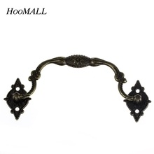 Hoomall 10PCs Vintage Box Suitcase Holder Furniture Handle & Knob Arch Bronze Tone 9.6cmx3.6cm Furniture Hardware(China (Mainland))