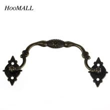 Hoomall 10 Stücke Vintage Box Koffer Halter Möbel Griff und Knopf Arch Bronzeton 9,6 cm x 3,6 cm Möbel Hardware(China (Mainland))