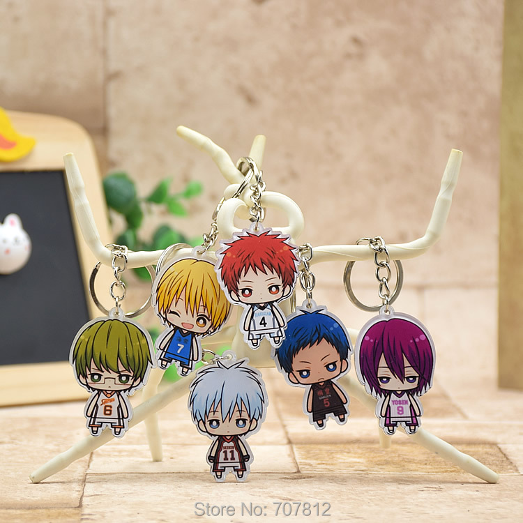 Гаджет  Kuroko no Basket acrylic Keychain Pendant Car Key Chain Key Accessories Cute Japanese Cartoon Collection None Игрушки и Хобби