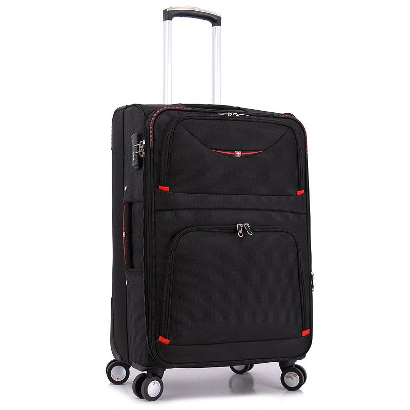 20 24 28inches Swiss Army knife trolley bags women travel men hand luggage rod box fashion waterproof Oxford cloth suitcase bag<br><br>Aliexpress