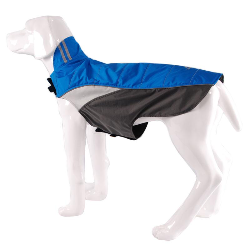2016 BlackDoggy thick anti-static fleece pets dog clothes reflective stripe warm waterproof outdoor Nylon coat jacket VC-JK12030(China (Mainland))