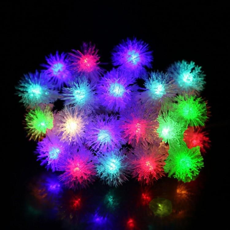 5M 28LED Waterproof RGB Chuzzle Ball Globe String Lights Outdoor Light For Ga