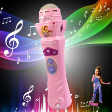 2014 New Arrival Wireless Girls Boys LED Microphone Mic Karaoke Singing Kids Baby Funny Gift Music Toys Free Shipping(China (Mainland))