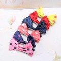 1PC Ribbon Bow Girls Hairpin for Baby Children Hair Accessories Ribbon Big Dot Bow Barrette Kids
