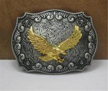2015 fashion luxury men belt buckles metal west cowboy eagle golden brand DIY mens designer belt buckles new year gifts CX392(China (Mainland))