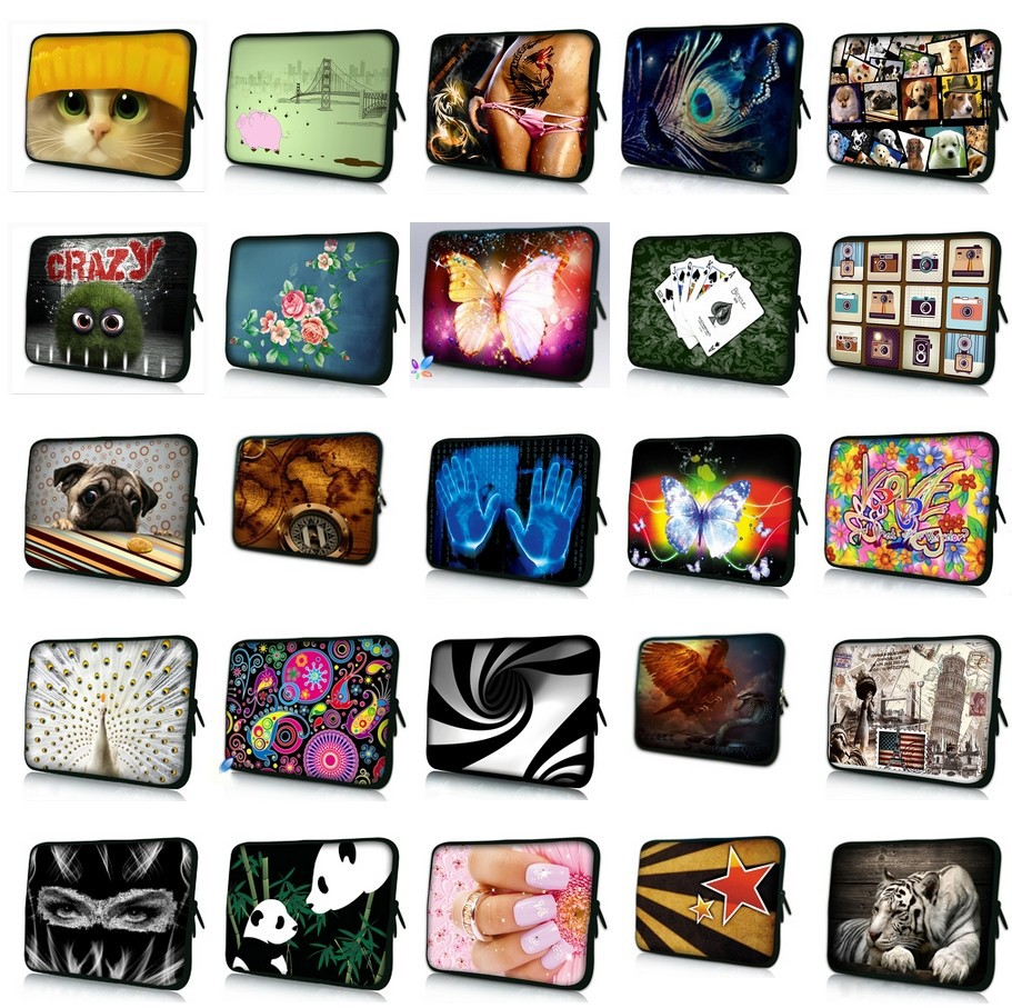 """9"""" 10"""" 10.1"""" 10.2"""" inch Laptop Netbook Notebook Tablet PC Soft Neoprene Sleeve Bag Case Cover Pouch Protector(China (Mainland))"""