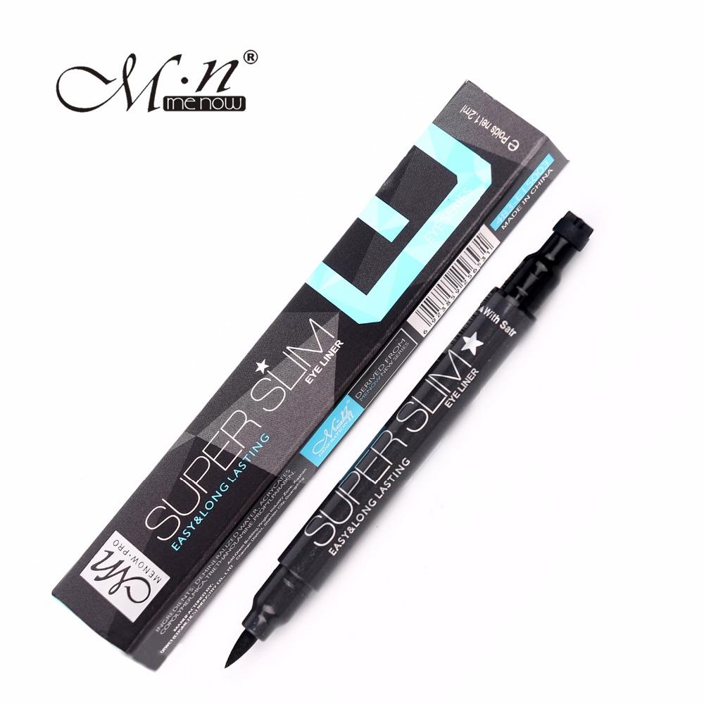 Menow Brand 1 Pcs Black Long Lasting liquid Eye Liner Pencil liquid eyeliner Cosmetic Beauty Makeup super slim easy use E15003(China (Mainland))